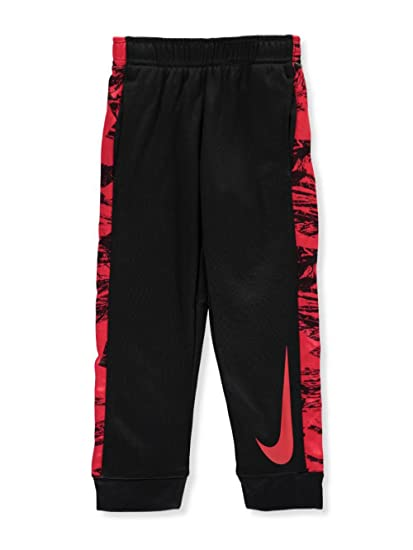 Nike Little Boys Toddler Therma Sweatpants (Sizes 2T - 4T) - black red a819a6bef