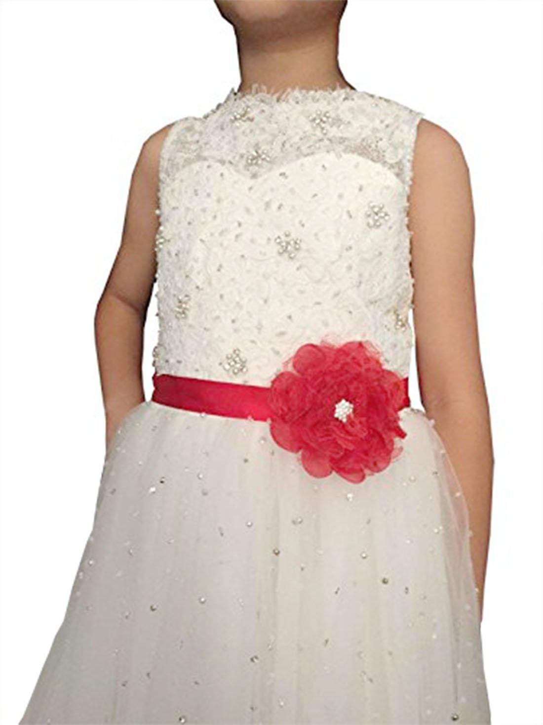 Lemandy Handmade Flowergirl Sash Children Belt For Wedding/Prom/Evening D2