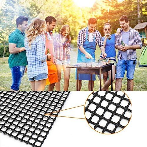 Blusea Tapis de Grille Barbecue Tapis de Cuisson antiadhésif réutilisable Usage intensif Facile à Nettoyer Cuire Tapis de Protection en Fibre de Verre BBQ Grill Mat