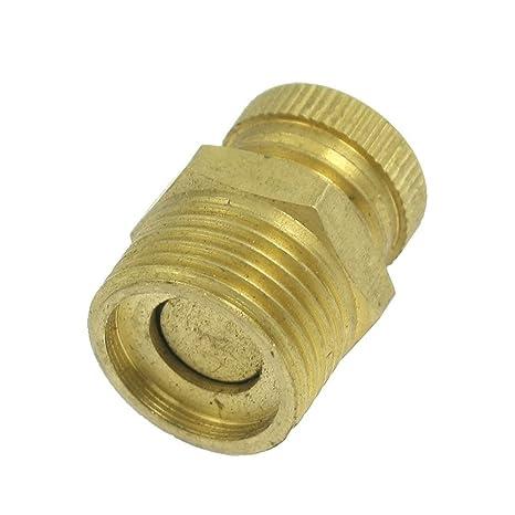 Cikuso Valvula de drenaje de agua roscado macho PT 1/4 pulgada compresor de aire