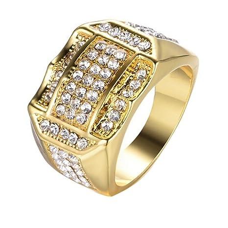 Amazon Com Men Ring Anboo Diamond Insert Male Men Ring Business