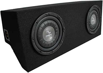 Compatible with 1994-2004 Ford Mustang Coupe Harmony F124 Dual 12 Custom Sub Box Enclosure New