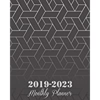 """2019-2023 Monthly Planner: Black Art Abstract Cover, 8"""""""
