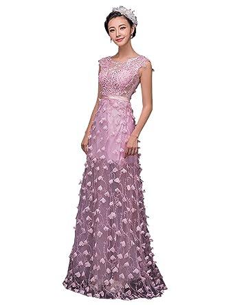 Beauty-Emily Maxi lange Perlen Pailletten Blumen-O-Ansatz Ohne Arm Spitze  Applique 9c86457495