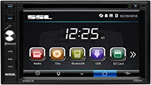Sound Storm DD661B Double Din, Touchscreen, Bluetooth, DVD/CD/MP3/USB/SD AM/FM Car Stereo, 6.2 Inch Digital LCD Monitor, Wireless Remote