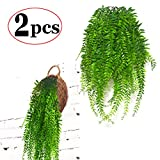 #10: Artificial Hanging Vines Plants Fake Ivy outdoor Plant Vine Faux Plastic Plant Wall Hangs Flowers Vines Greenery Plant for Lndoor Outside Wedding Home Garden Hanging Basket Decor - 2pcs