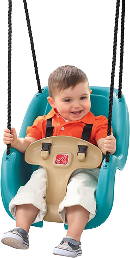 Baby Toddler Garden Swing Seat with Safety Bar and Belt in Red /& Yellow for Baby Aged 6 to 36 Months Max Load 25KG