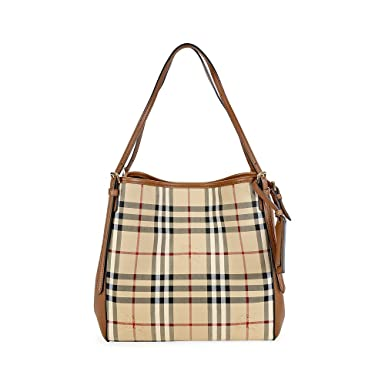 b9dd6c1959b3 Burberry Small Canter In Horseferry Check And Leather Honey Tan Tote Bag   Amazon.co.uk  Shoes   Bags