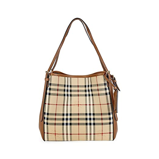 Burberry Small Canter In Horseferry Check And Leather Honey Tan Tote Bag   Amazon.co.uk  Shoes   Bags 97b2abda88