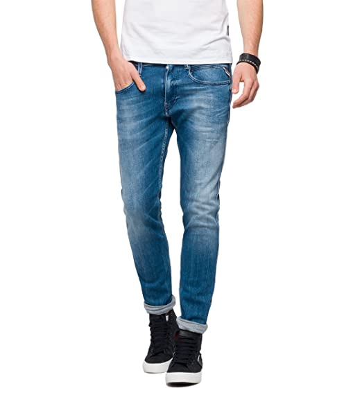 8f251698 Replay Men's Anbass Slim Jeans: Amazon.co.uk: Clothing
