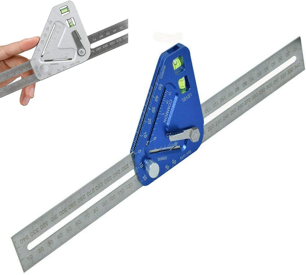 Dreieck Lineal Ebene Instrument Winkelmesser Carpenters Dreieck Lineal Mit Horizontalen Vacuole Blau ZN Multifunktionale Winkel Lineal