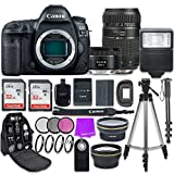 Cheap Canon EOS 5D Mark IV Digital SLR Camera with Canon EF 50mm f/1.8 STM Lens + Tamron 70-300mm f/4-5.6 AF Lens + Accessory Bundle