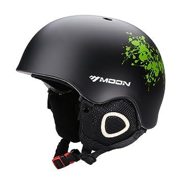 Moon - Casco unisex de adulto para esquí, snowboard, casco integral ultraligero para