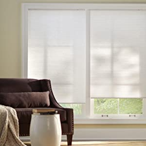 """Home Decorators Collection 23"""" Wide Snow Drift 9/16 in. Light Filtering Corded Cellular Shade (72)"""