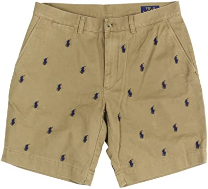 eb476b839 RALPH LAUREN Polo by Mens Classic-Fit All Over Pony Embroidered Shorts (34