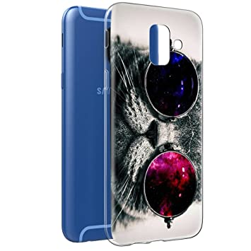 detailed look bd1dd 10517 Samsung Galaxy A6 2018 Case, Eouine Phone Case Transparent Clear with  Pattern [Ultra Slim] Shockproof Soft Gel TPU Silicone Back Cover Bumper  Skin for ...