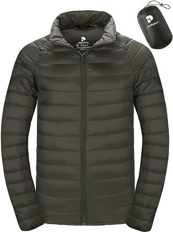 Men/'s NEXT Down Filled Black Hooded Lightweight Packable Bag Travel Jacket S M