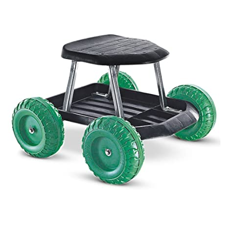 Charmant Collections Etc Green Rolling Garden Scooter Seat With Underneath Tool  Storage Tray