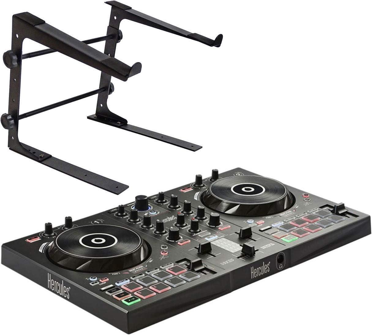 Hercules DJControl Inpulse 300 - Mesa de mezclas para DJ (2 bandejas, incluye soporte para portátil Keepdrum): Amazon.es: Instrumentos musicales