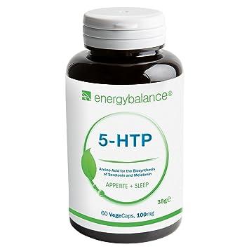 5-HTP Aminoácido 100mg | Aminoácido esencial | Serotonina | Vegano | Sin gluten | Sin OGM | HACCP | 60 VegeCaps: Amazon.es: Salud y cuidado personal