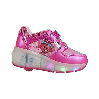 LES TROLLS Baskets à Led - Enfant fille - Rose fuchsia 9Tn3mp6