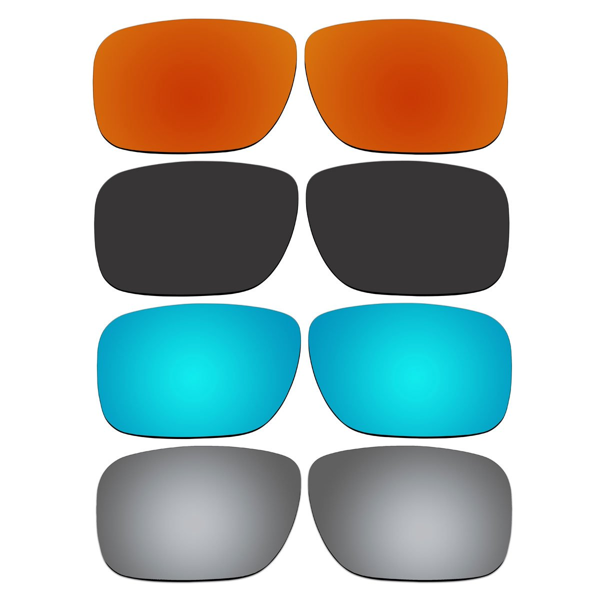 4 Pair Replacement Lenses for Oakley Holbrook Sunglasses With Polarized Pack P4-1
