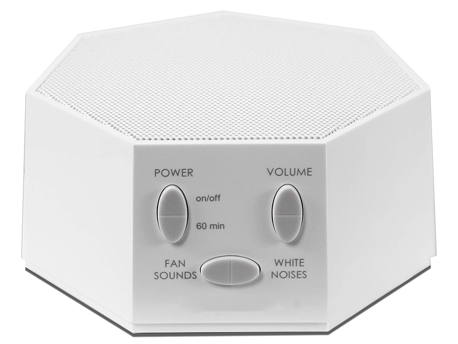 White Noise Sound Machine Portable Sleep Therapy for Home, White Noise Machine for Office Privacy Fan Sound with Nightlight, for Home Office Baby Travel Rechargeable Battery