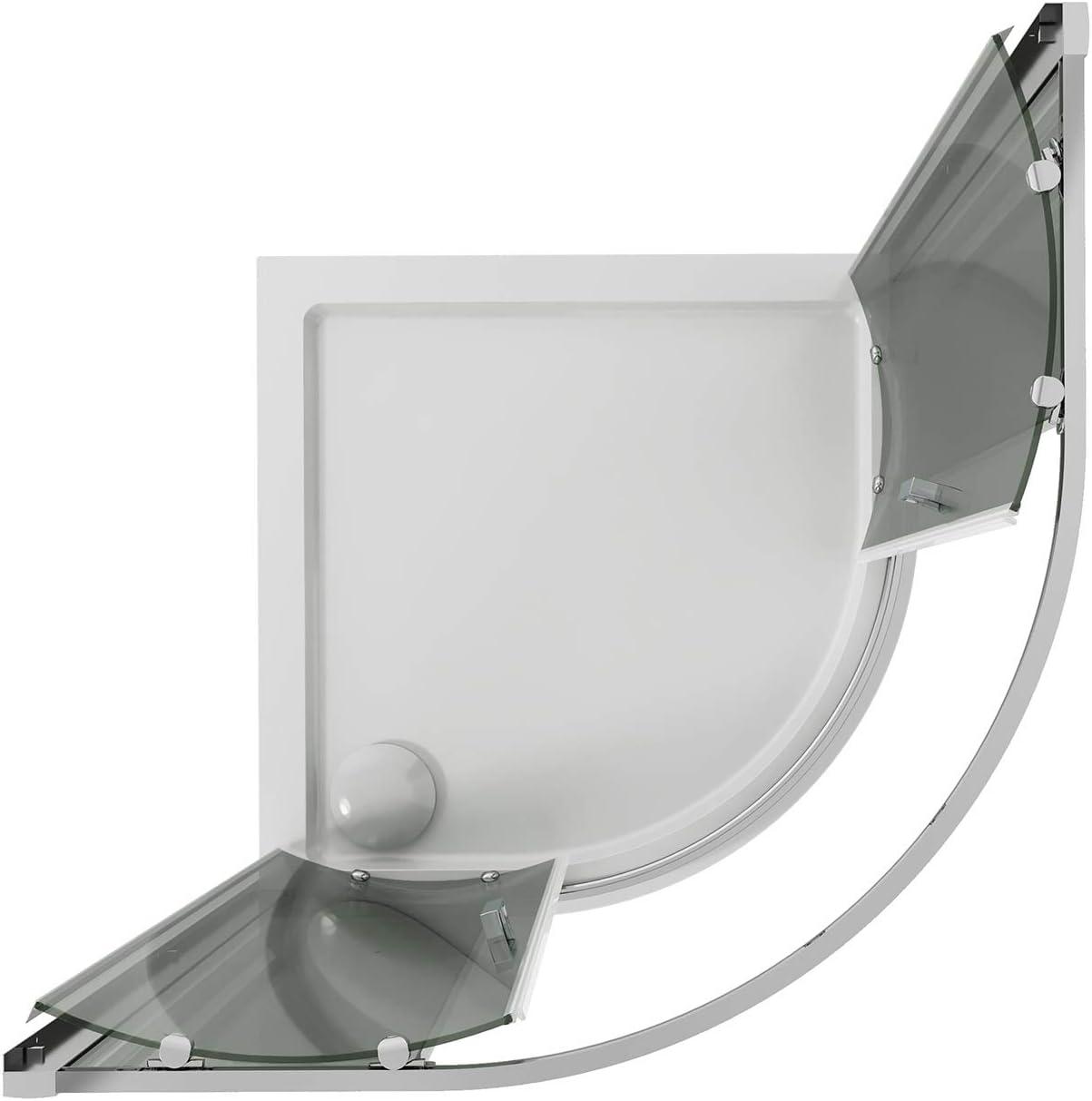 Idralite Box Mampara de Ducha Semicircular 90x90 H185 Transparente ...