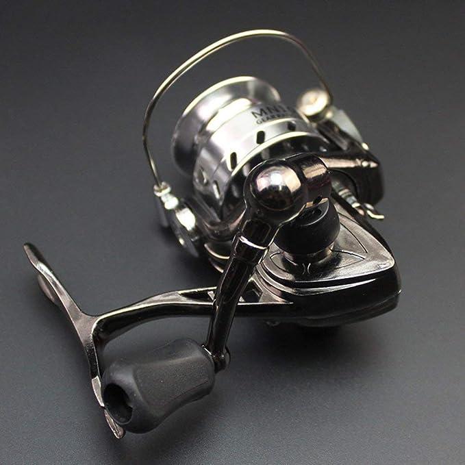 Oyamihin Mini Angelrolle Palm Gr/ö/ße Metall Ultraleicht Kleines Spinning Ice Roller Micro Silber