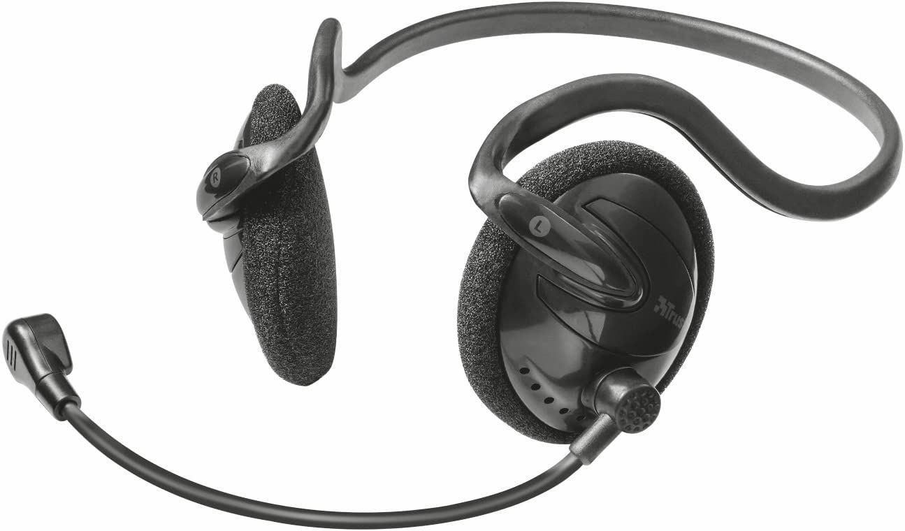 Black Trust Primo Chat Headset for PC and Laptop