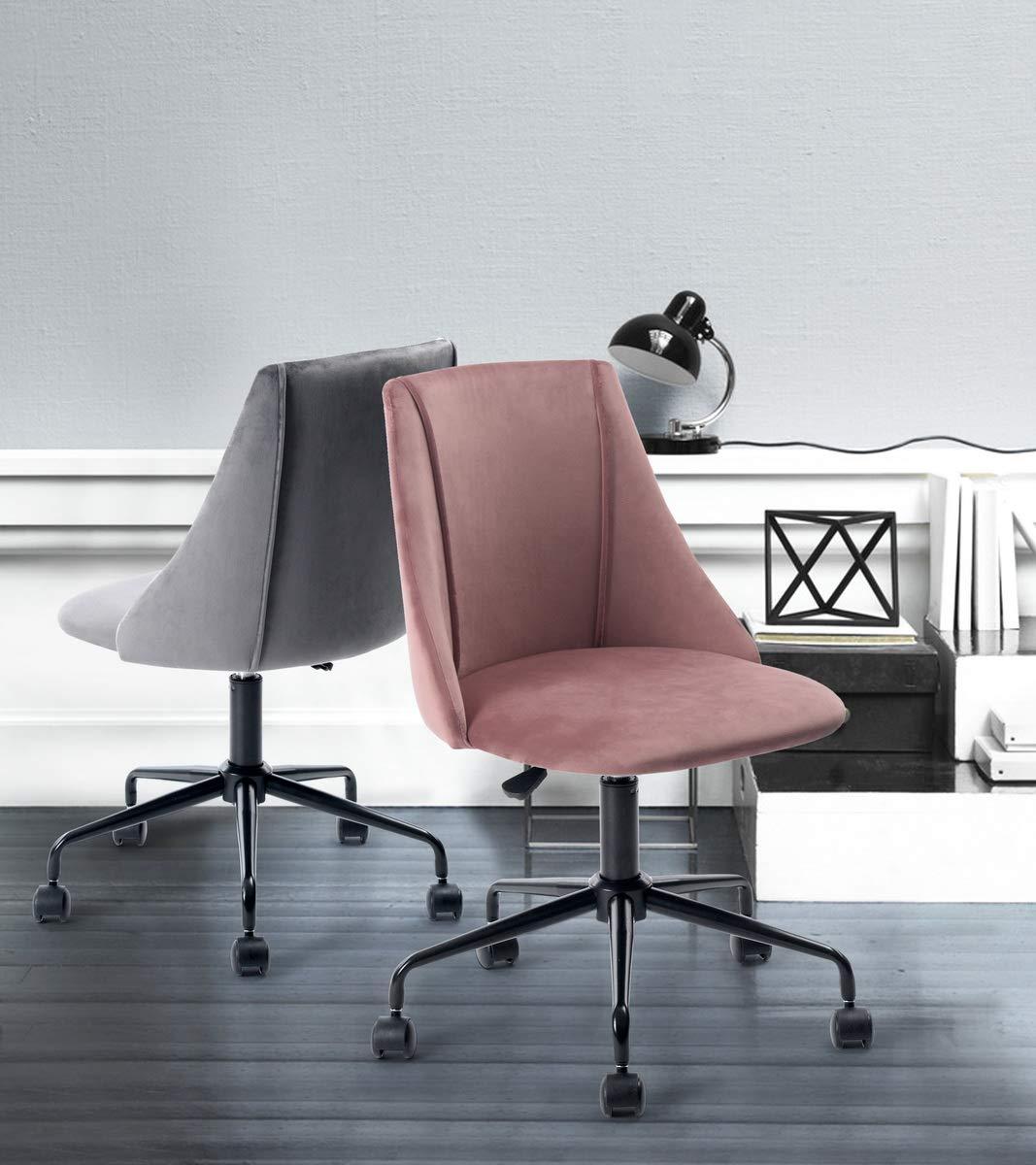 Sep Home Chaise de Bureau Siège Ergonomique Tissu Velours