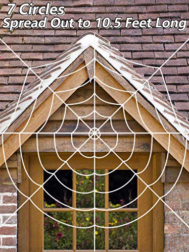 Halloween Giant Spider Web, 10.5ft Super Stretch Cobweb