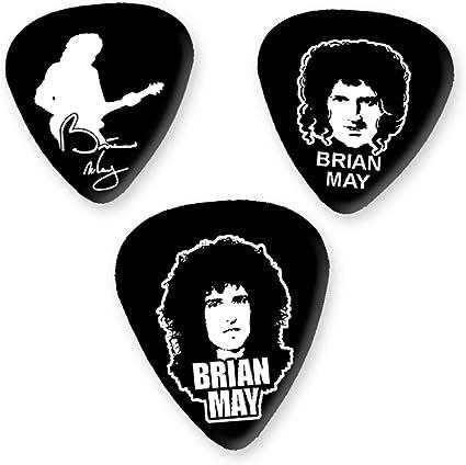 Brian May Queen 3 x Guitarra Picken Plectrums bweg: Amazon.es ...
