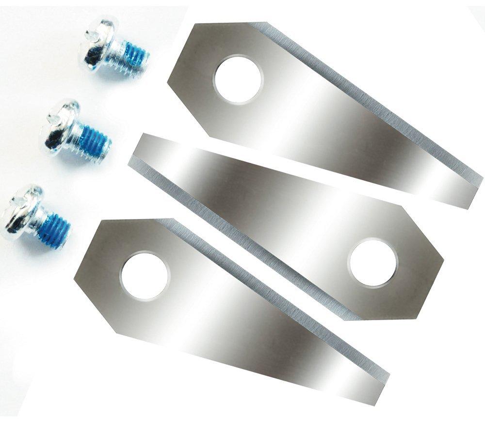 Lame de rechange pour Bosch Indego 4sets (Lot de 3) = 12lames acérées Double face–Réversible Techon