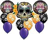 Coco Sugar Skull Day of The Dead Balloon Bouquet