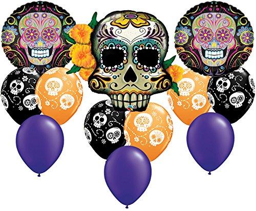 Skull Bouquet - Coco Sugar Skull Day of The Dead Balloon Bouquet