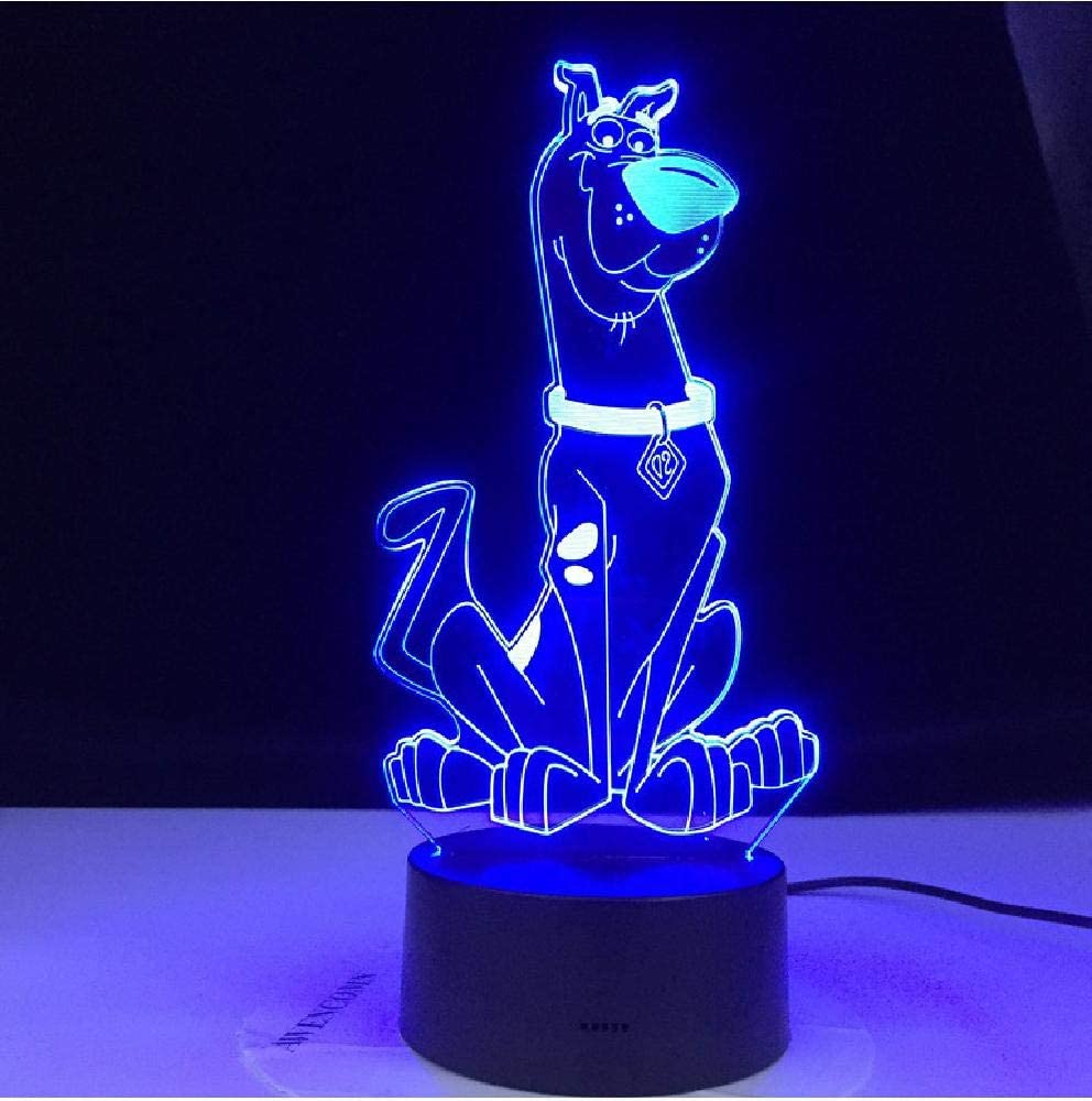 Scooby Doo Mystery Machine FREE LED Night Light Lamp with Remote Control Light