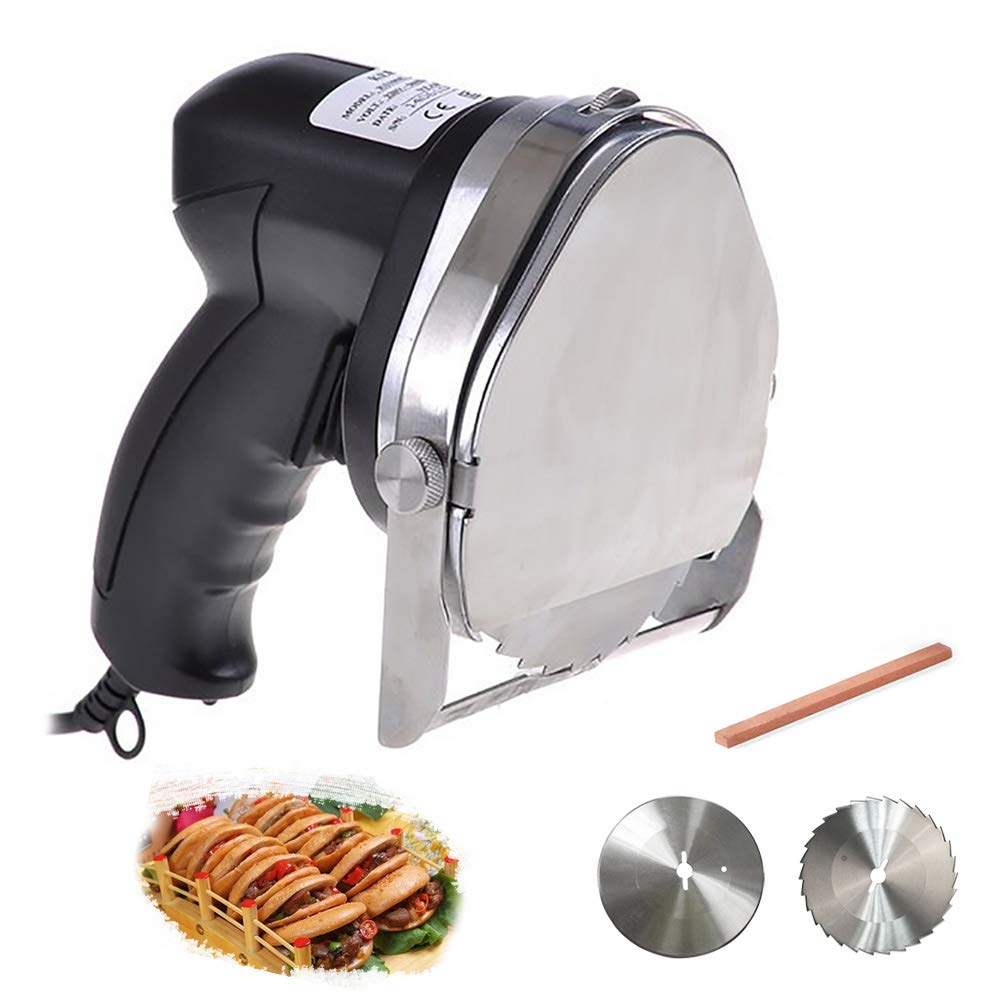 Li Bai Commercial Doner Kebab Electric Gyros Knife Shawarma Machine Gyro Cutter Kebab Meat Slicer with 2 blades by Li Bai