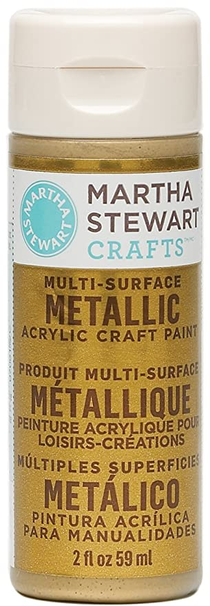 Gold Paint Colors >> Martha Stewart Crafts Multi Surface Metallic Acrylic Craft Paint In Assorted Colors 2 Ounce 32103 Gold