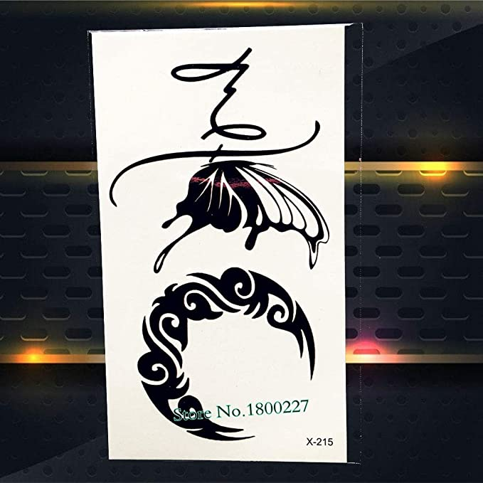 Yyoutop Tinta Negra Etiqueta Engomada del Tatuaje del Elefante ...