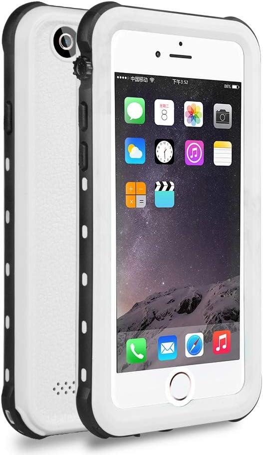 ChuWill Funda Impermeable iPhone 6 Plus, Carcasa iPhone 6s Plus, Certificado IP68 Antigolpes Sumergible Protección 360º Funda para iPhone 6/6S Plus(5.5 Inch) - Blanco
