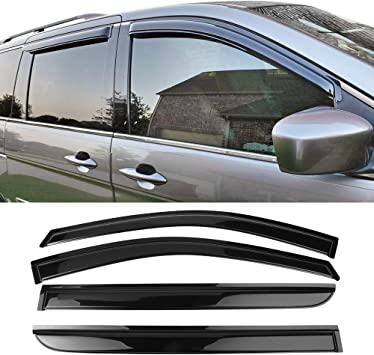 JDM Window Visor Deflector Out-Channel Light Tinted 4pcs For Honda Odyssey 05-10