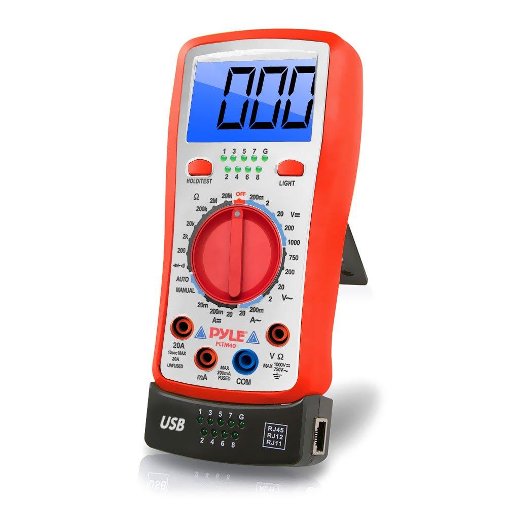 Pyle Multimètre numérique rétroéclairé LCD PLTM40