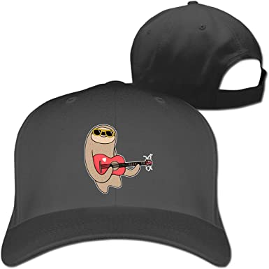 Cute Sloth Face Outdoor Snapback Sandwich Cap Adjustable Baseball Hat Dad Hat
