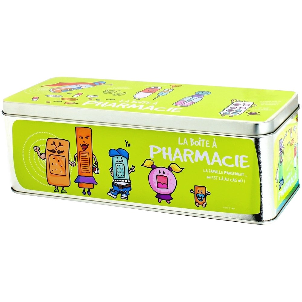 Promobo -Grande Boite à Pharmacie Soins Médicaments Infirmerie Picto Vert