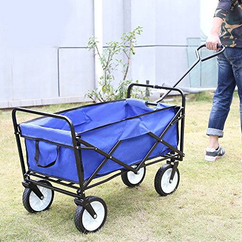 homfa garden cart trolley foldable pull wagon folding. Black Bedroom Furniture Sets. Home Design Ideas
