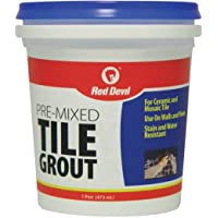 Red Devil 0428 Pre-Mixed Tile Grout, 1-Pint, White