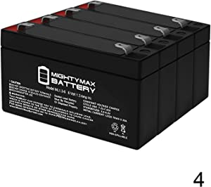 Mighty Max Battery 6V 1.3AH - 60-914 - Back-up Battery for GE Simon XT Panel - 4 Pack Brand Product