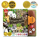 EST LEARNING Book Reader Animal Kingdom - Educational Talking Sound Toy to Learn About Animals with Quiz Games for Kids Ages 3 to 8 Years Old