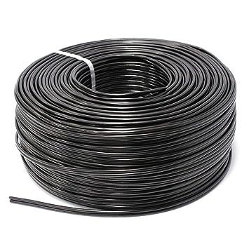 Cablematic - Bobina de cable coaxial RG59 y cable eléctrico 2x0.5mm2 200m